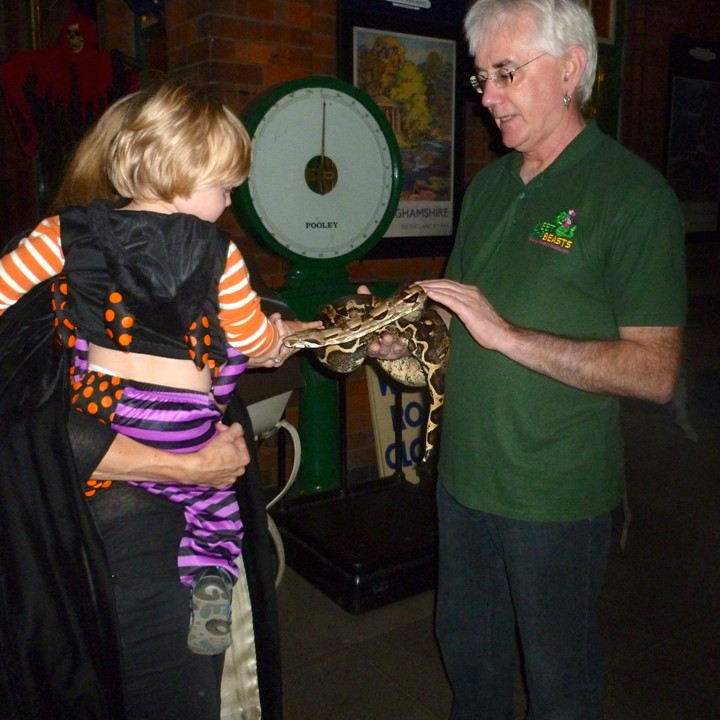 [Meet The Beasts at a Halloween Fright Night event at The Great Central Railway - Meet The Beasts]